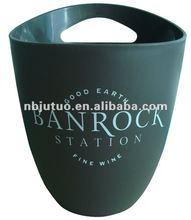 BPA free 3L Plastic Ice Bucket for beer mug/wine cup