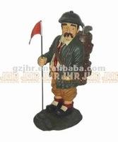 Decorative poly resin golf player star craft