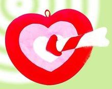 2011 new fashion heart cute cushion