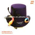 de moda la magia y el morado sombrero de copa brillaba con rosa y la serpiente