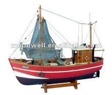 Wooden Fishing Boat trawlers Model,Souvenir Nautical Gifts Decoration Handicrafts,Decorative Boat ship Model replica handmade