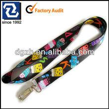 Sublimation cute logo lanyard, key or card holder neck straps