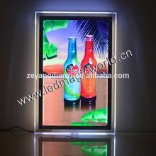 2015 illuminated Advertising Light Box/Acrylic LED Poster Frame/LED light frame
