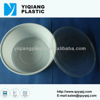 Disposable round plastic container with lid