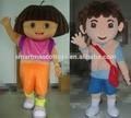 Dessin animé dora dora l'exploratrice& diego mascotte de costumes pour adultes
