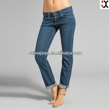 2015 fashion pictures of jeans for women oem clothing manufacturing JX2139
