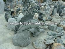Decorative Garden Fish Granite Stone carving