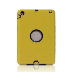 Durable 2 in 1 case for IPAD MINI pc+silicone robot hybrid hard combo case for IPAD MINI