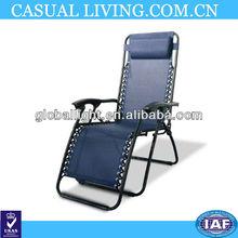 Dark Blue Folding Zero Gravity Recliner Chair