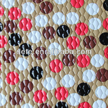 PVC film leather for school bags, embossed PVC leather for child bags, PVC popular pattern design for bags