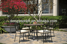 Pretty garden furniture- marble/dinning table and chair set