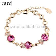 ouxi fashion gold fish tennis bracelets made with Swarovski element 30200