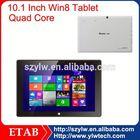 10.1 inch Baytrail-T Z3740D quad core x86 windows tablet pc dual sim