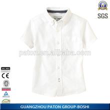 100% algodão verão camisa estudante, Venda quente camisa da escola uniformes