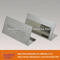 placa de metal suporte de mesa para novos produtos de publicidade