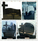 high quality black granite monument tombstones