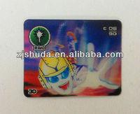flip effect PET 3d lenticular cards, various design 3d cards