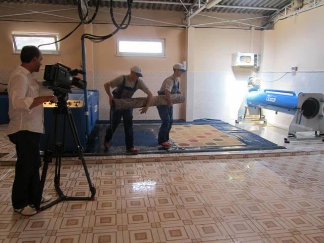 La alfombra de secado de la m quina el otro equipo de la - Productos para limpieza de alfombras ...