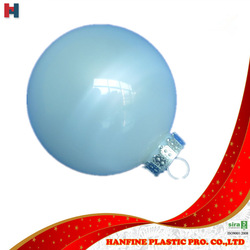 OEM 83mm pet plastic white christmas balls