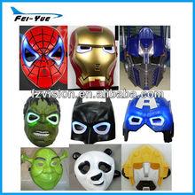 Wholesale Plastic Carnival Party masks Hero spiderman batman Led Halloween masks