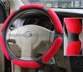 Volante auto copre/rosso pellescamosciata volante copre