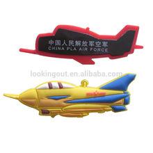 cheap custom made fighter plane soft pvc fridg magnet for kids