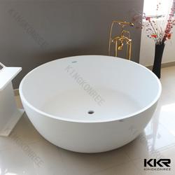 1700mm solid surface resin stone Matt White Freestanding Bath
