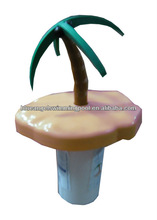 "Dia.9"" Palm Tree Floating Chemical Dispenser For 3"" Tablets"