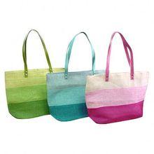 Microfiber Beach Bag Natural Straw Beach Bag
