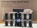 2014 quente! 5.1 home theater usb subwoofer