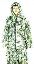 Camo ghillie traje, caza bosque ghillie suit, nieve trajes ghillie