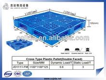 Cross type hygienic plastic pallet