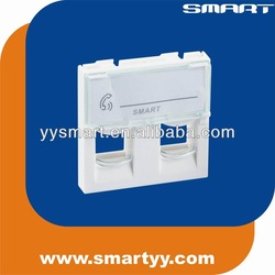 RJ45 faceplate 2 port network wall outlet