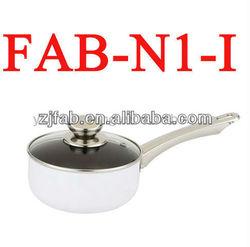 Non-stick Aluminum White Ceramic Saucepot