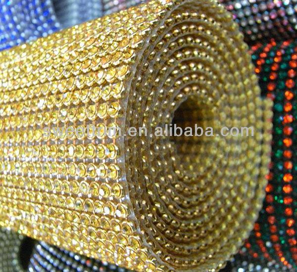 glitter Alunimu rhinestones mesh