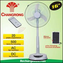 """CR-8803B 16"""" emergency rechargeable battery solar standing floor fan"""