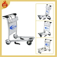 3 Wheels Stainless Steel Airport Hand Trolley, Airport Luggage Cart