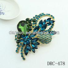 New Arrival wedding brooches wholesale fashion beautiful large flower rhinestone brooch
