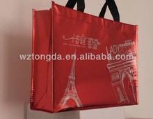 Hot Sale Custom Printed Non Woven Shopping Tote Bag(WZ1664)