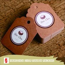 wholesale craft paper garment price tag /cheap custom garment price tag