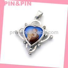 2015 best selling zinc alloy heart shaped photo frame pendant
