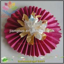 popolare fiore di tessuto artigianale con centro perline