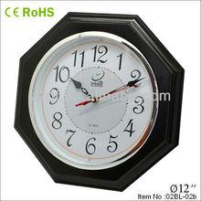12 inch octagonal wooden clock azan time