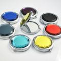 multicolor de cristal redonda plegable de color pequeño regalo de boda a mano espejo