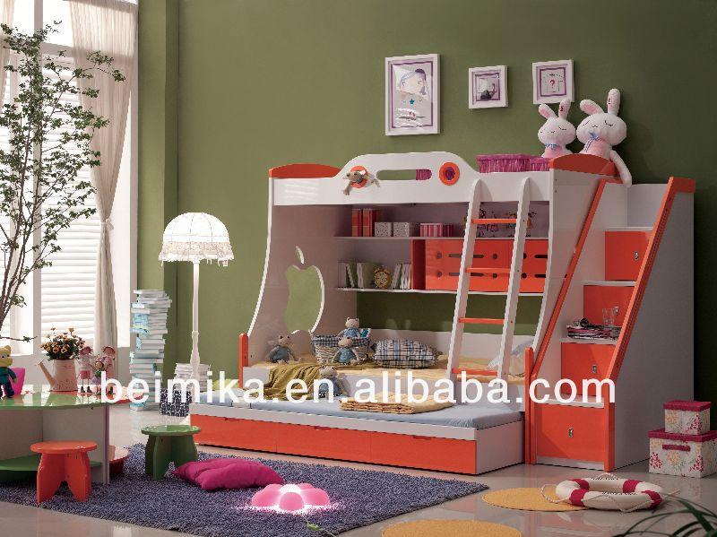 Opslag kinderen meubels stapelbed voor jongen meisje kinderen meubels sets product id 1372728183 - Volwassen slaapkamer stijl ...