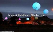 Beautiful decorative inflatable lighting ball/led balloon light