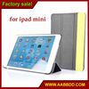 hot selling two-color 3 flip for ipad mini leather case