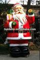 Huida 2014 nuevo estilo al aire libre de fibra de vidrio de la decoración de navidad- santa claus