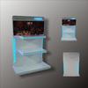 POP retail speaker/TV wooden display stand/rack
