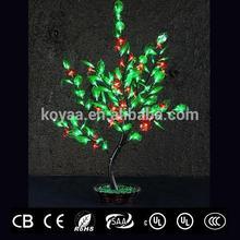 0.9m 2015 NEW Artificial bonsai tree light PJ-128 Red pvc flower green leaves